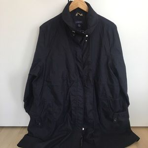 Oversized, navy blue jacket from Land's End